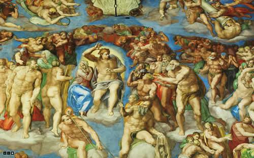 Imagem do Site do Vaticano que mostra de forma panorâmica a Capela Sistina